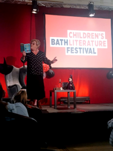 Kaye at the Bath Literary Festival